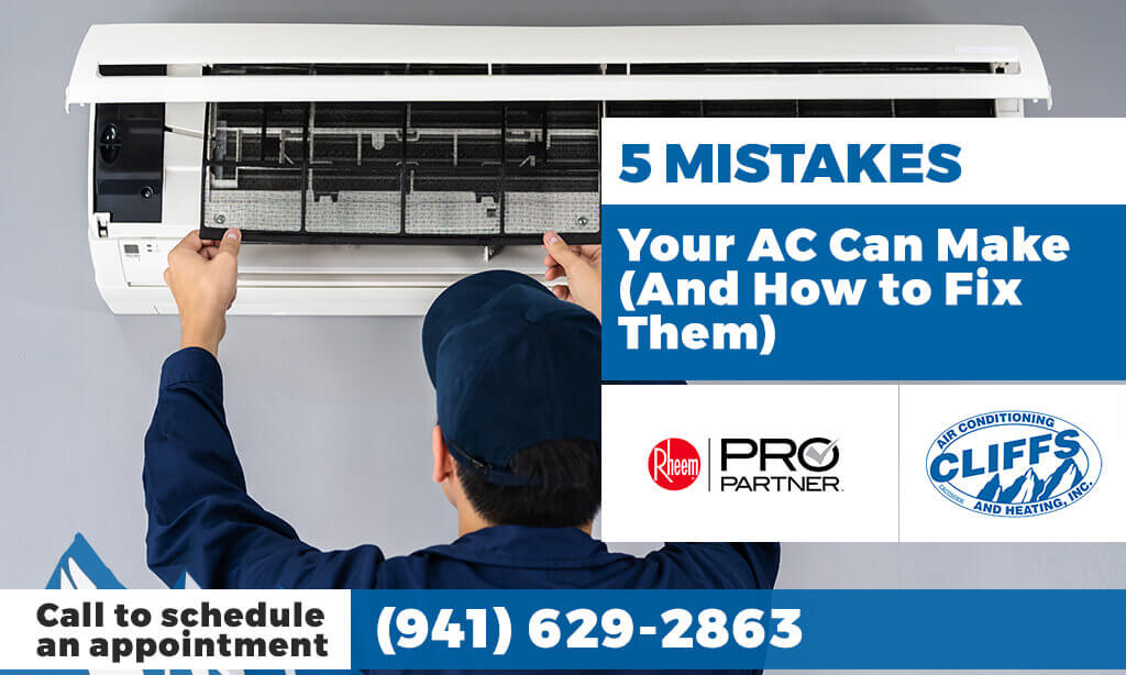 5 Mistakes Your AC Can Make (And How to Fix Them)